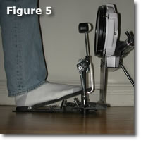 Figure 5: Bass Pedal Resting Position