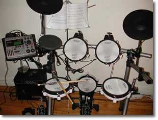 Roland V Stage Drum Setup