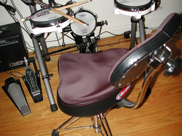 The picture above shows a Gibraltar throne with double braced legs felt covered bicycle style seat and back support. When picking a throne ... & Electronic Drum Accessories islam-shia.org